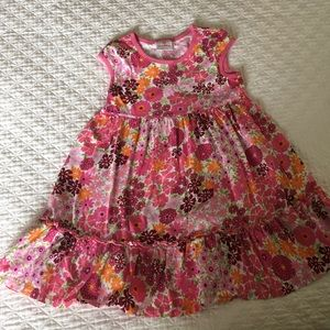 Hanna Andersson pink floral dress size 110